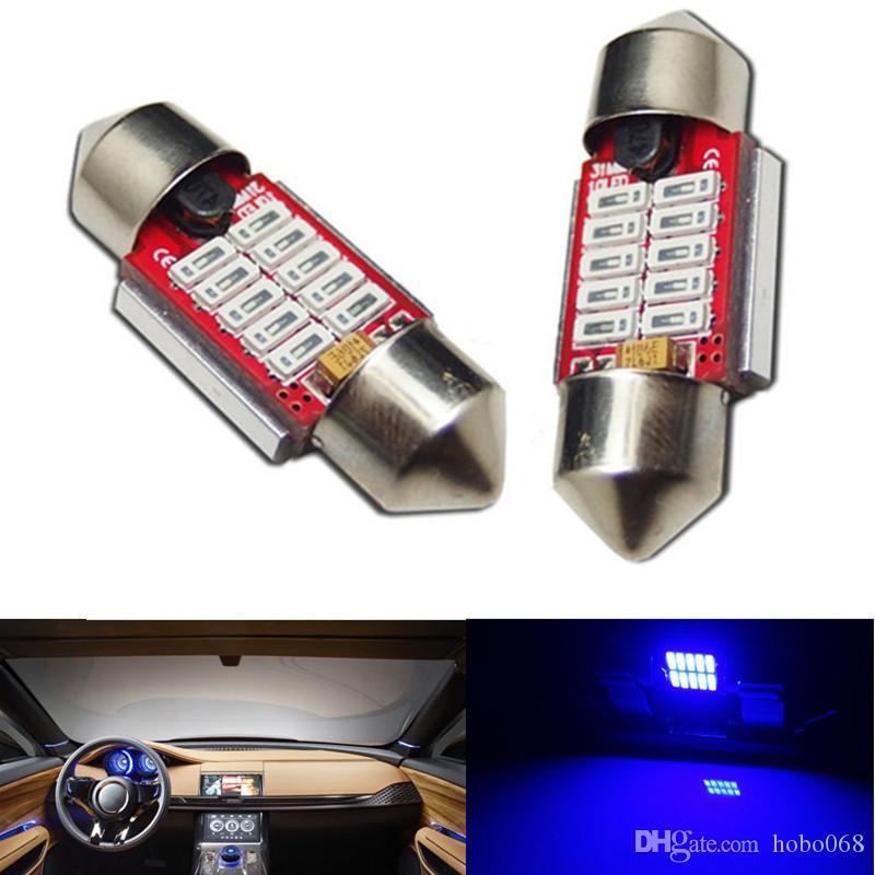 10pcs hohes Blau 31mm 10-SMD LED Girlanden-Birnen-Auto-Hauben-Karten-Lichter Innenlampen LED DIY