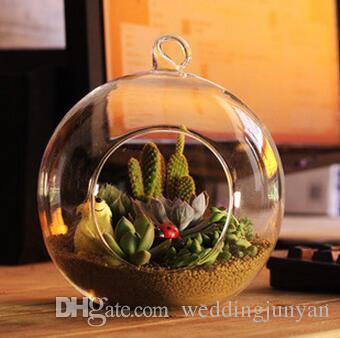 8cm Bougies de verre suspendues, porte-thé à boule de verre, chandelier de mariage, verre suspendu jardinière intérieure Terrariums pour la décoration de la maison, cadeaux