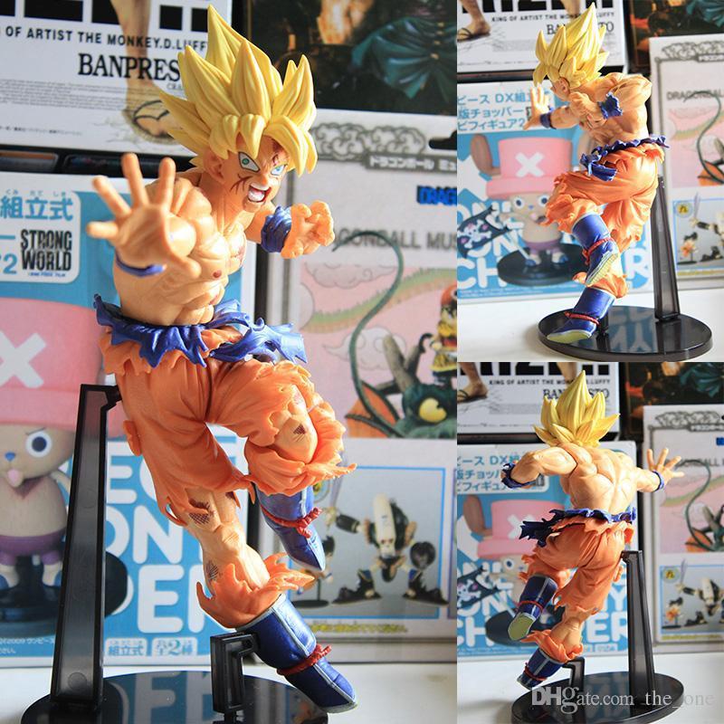 """9 """"Dragon Ball Z Master Stars Piece MSP No.18 Super Saiyan Son Goku Goku 24 cm en caja de PVC Figura de Acción Modelo envío gratis"""