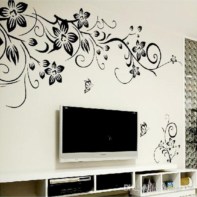 Hot DIY Wall Art Decal Decoration Fashion Romantic Flower Wall Sticker/  Wall Stickers Home Decor 3D Wallpaper Decals For Home Decorating Decals For  ...