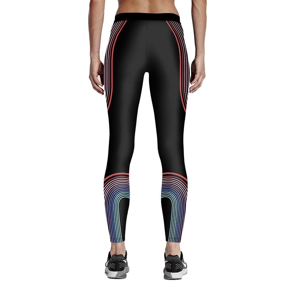 Womens Work Out Print Sports Fitness Yoga Pants Ladies Fashion Digital Printing Active Elastic Slim Bodycon Trousers Ankle-Length Pants 4XL