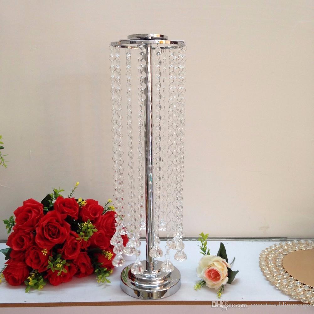 şerit çiçek standı düğün centerpieces / şerit çiçek standı için weddngs / metal vazo düğün dekorasyon
