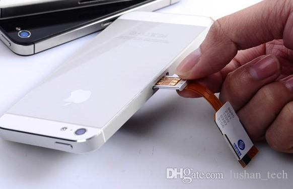 Doppia SIM Adattatore singolo standby per iPhone 4S con custodia Protect con una micro sim e una normale sim per GSM