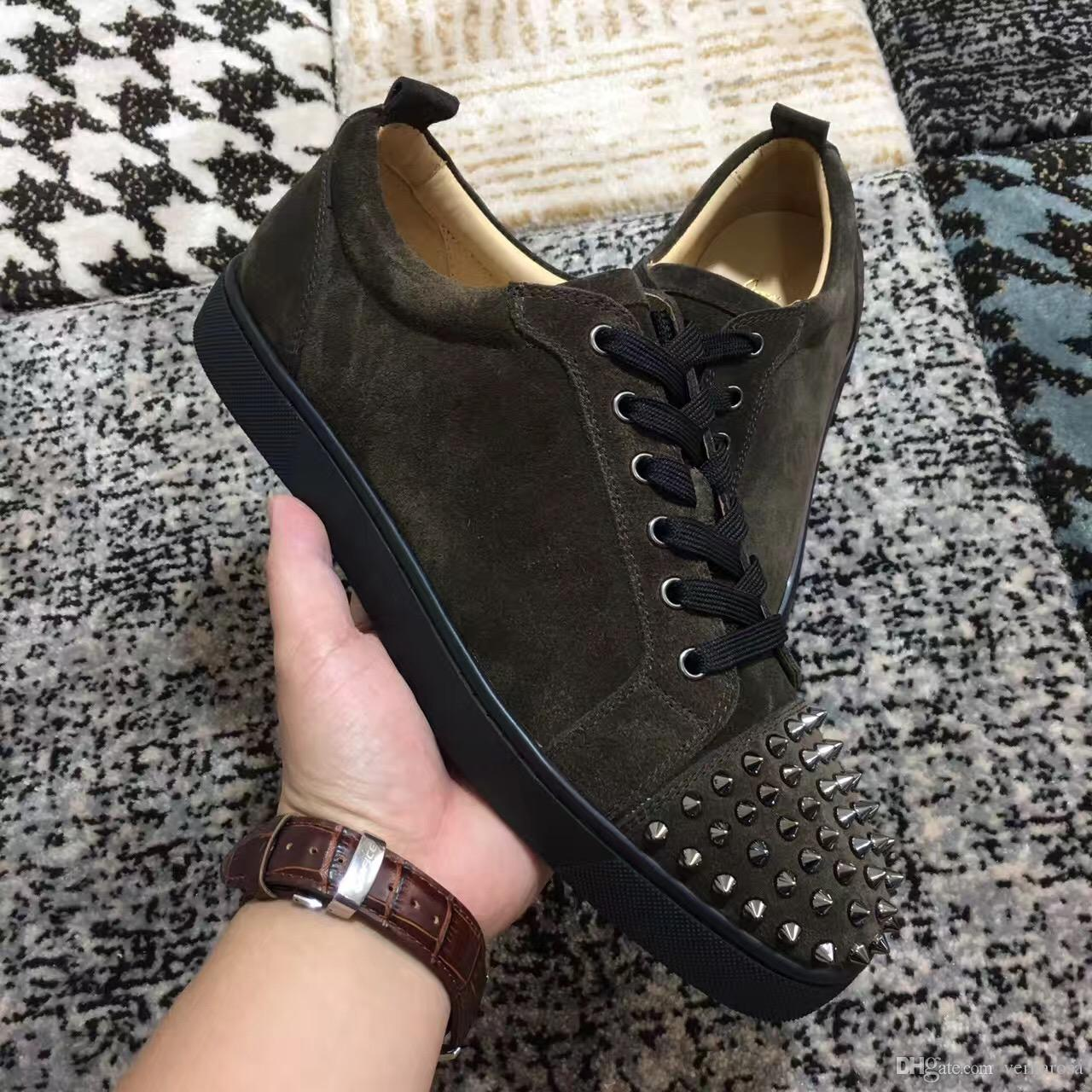 Low Top Sneakers Shoes Women,Men Spikes Toe Trainers Junior Flats ...