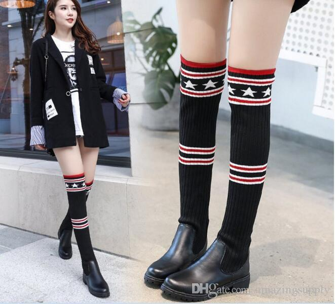 Women Knee High Sock For Boots Womens