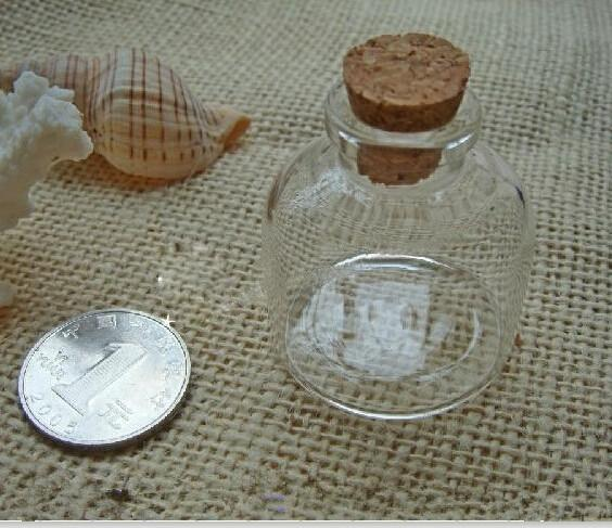 20ml wholesale very cute glass vials Glass Bottles small bottles cork