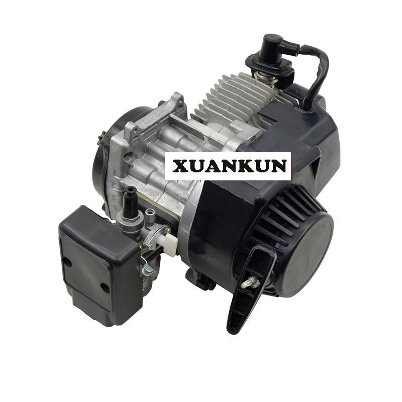 Mini Sports Car Motorcycle Engine Two Stroke 49CC Engine Hand Pull Start Gasoline Engine