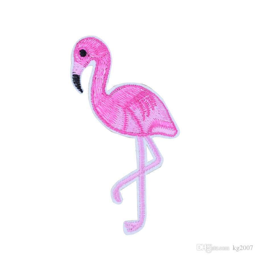 10 PCS Fashion Flamingo Patches for Clothing Bags Iron on Transfer Applique Patch for Jeans Sew on Embroidery Patch DIY