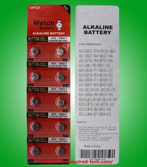 3000PCS AG2 LR59 396A LR726 SR726 197 시계 배터리 1.5V 알칼리 버튼 셀 배터리 10PCS / 팩