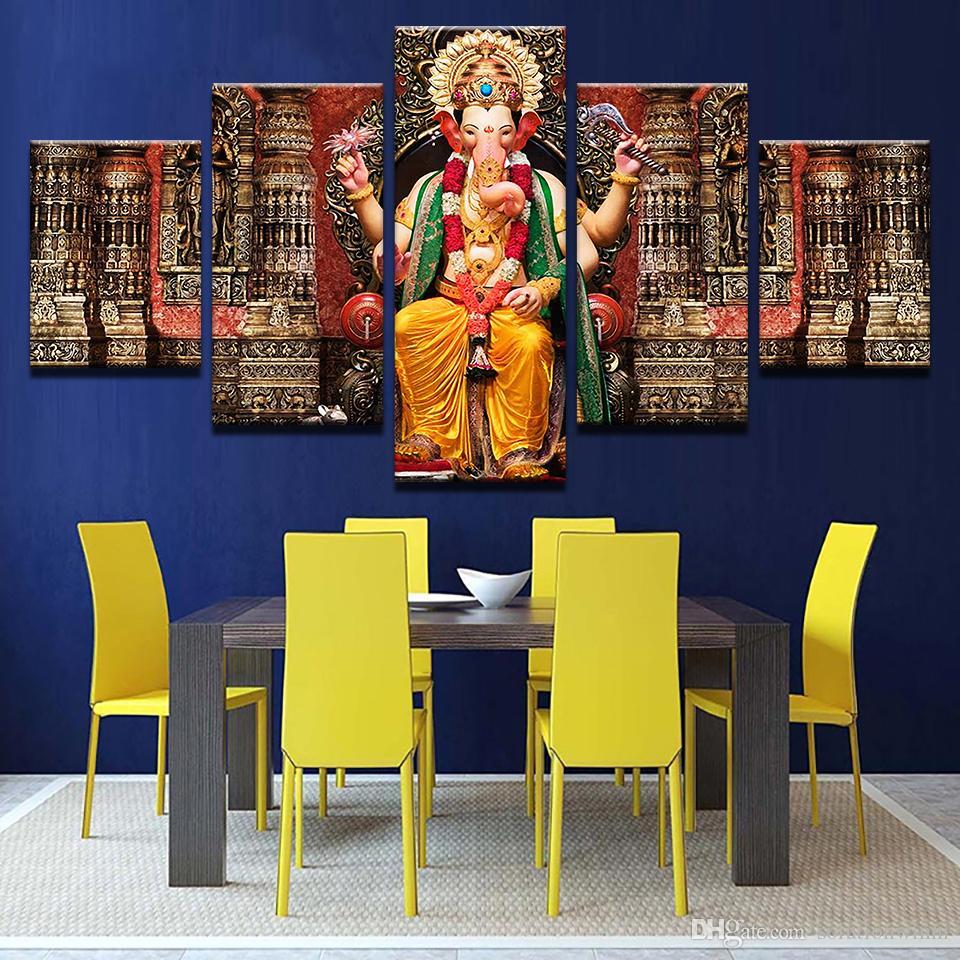 Großhandel 5 Teile / Satz Leinwand Bilder Hd Drucke Wandkunst Indien ...