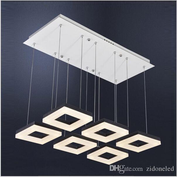 البساطة الحديثة نمط الصمام أضواء قلادة معدنية الاكريليك الثريا الإضاءة مصباح تركيبات لغرفة المعيشة / غرفة نوم / غرفة الطعام 3/6 رؤساء