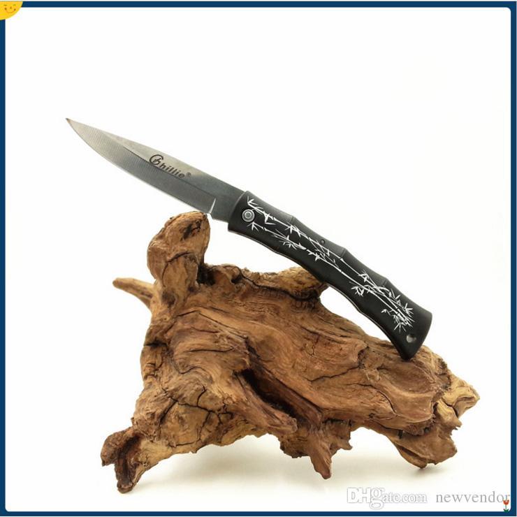 Promoción de Ghillie EDC de bolsillo plegable de la lámina del cuchillo cuchillos de la fruta ABS maneja el cuchillo de bolsillo mini cuchillo de la supervivencia Cuchillos de regalo precio barato