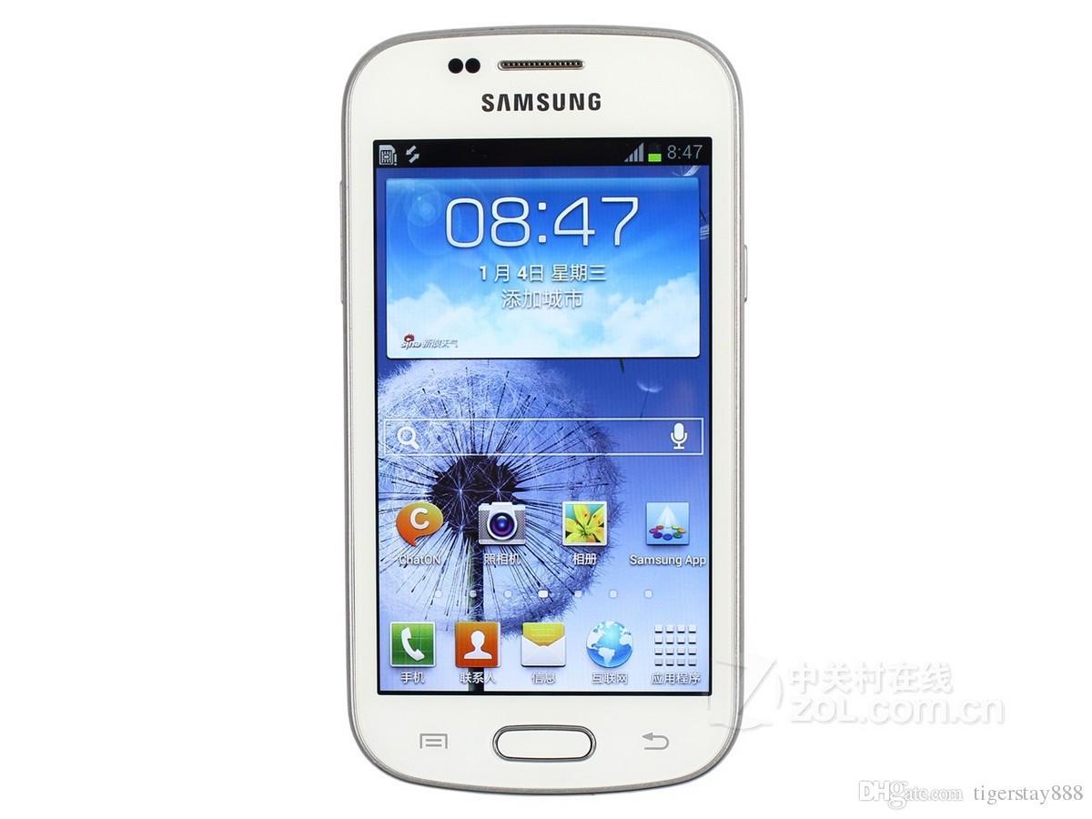Remodelado Original Samsung Galaxy Duos S7562 4.0 Polegadas 3G WCDMA Telefone Inteligente Único Núcleo 1500MAH Bateria Desbloquear
