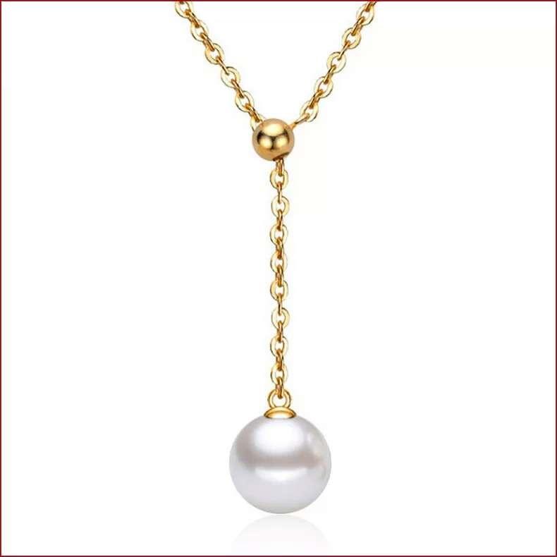 Atacado 925 itens de prata esterlina declaração de jóias colares gota de pérola em forma de cadeia do casamento do vintage encantos quentes