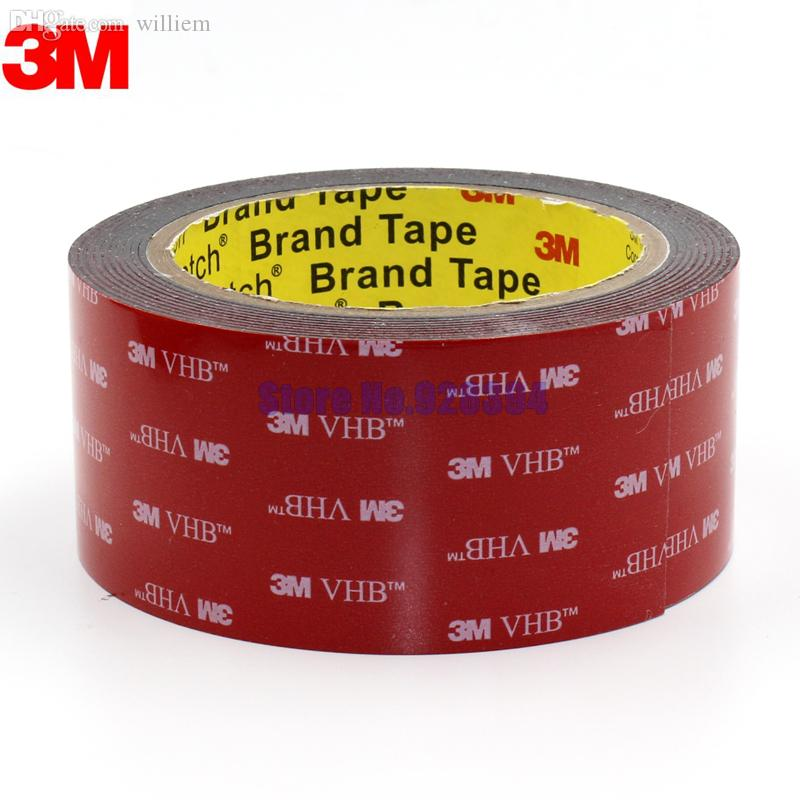 Wholesale-3M VHB 5952 Black Heavy Duty Mounting Tape Double Sided Adhesive Acrylic Foam Tape 50mmx3Mx1.1mm