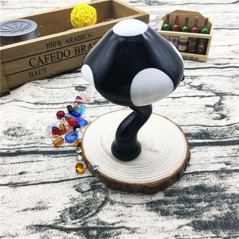 Новый стиль 4,2-дюймовый черный гриб облако рука труба табак стеклянная труба для курения использование стекла ручной трубы