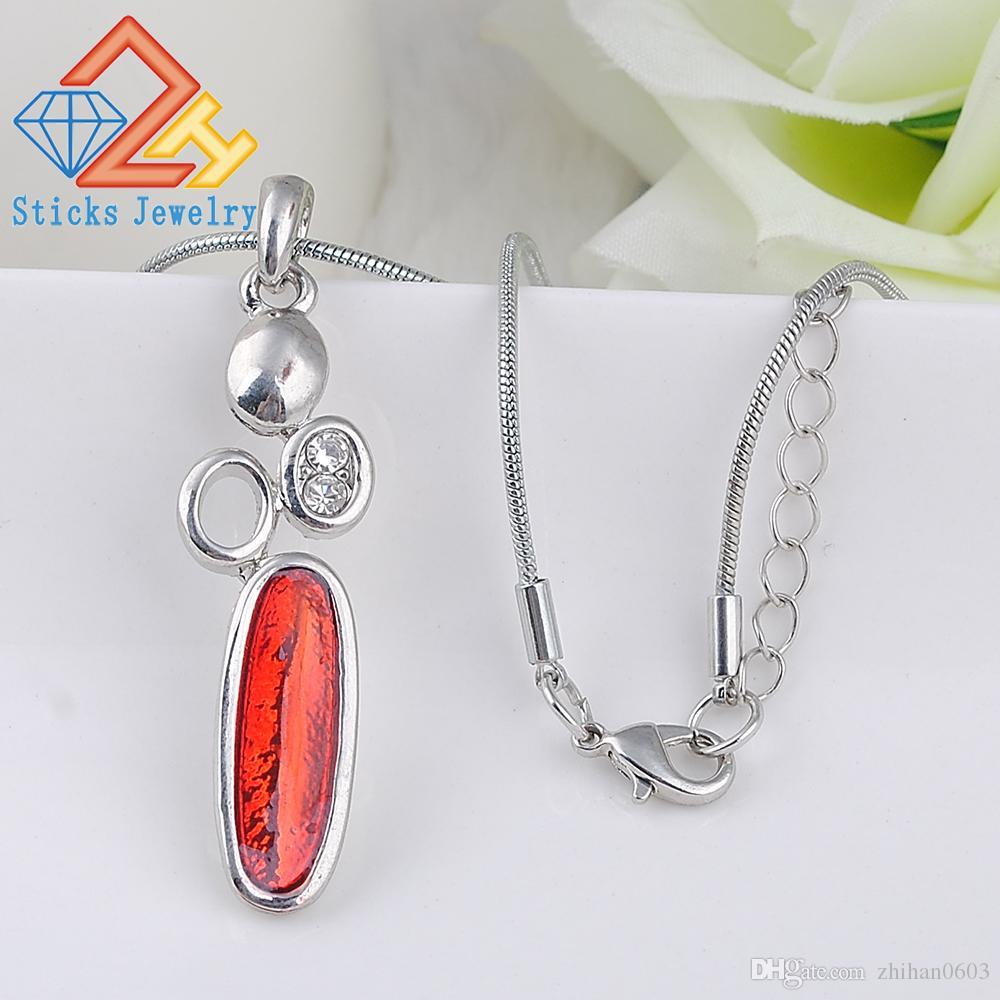 Высокое качество старинные ожерелья подвески цинковый сплав геометрическая эмаль горный хрусталь модные Ожерелье для женщин два цвета