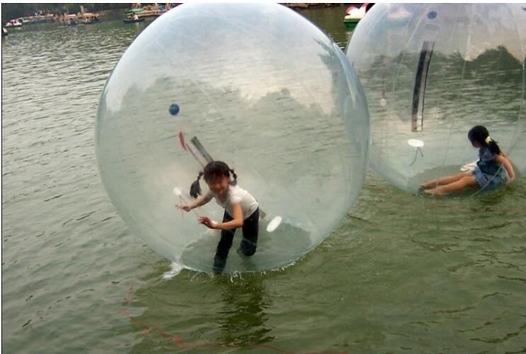 2m 0,8 milímetros inflável grande Balls pé bola Zorb bolas de água Dança Ball Sports caminhada na água com zipper brinquedo da água PVC