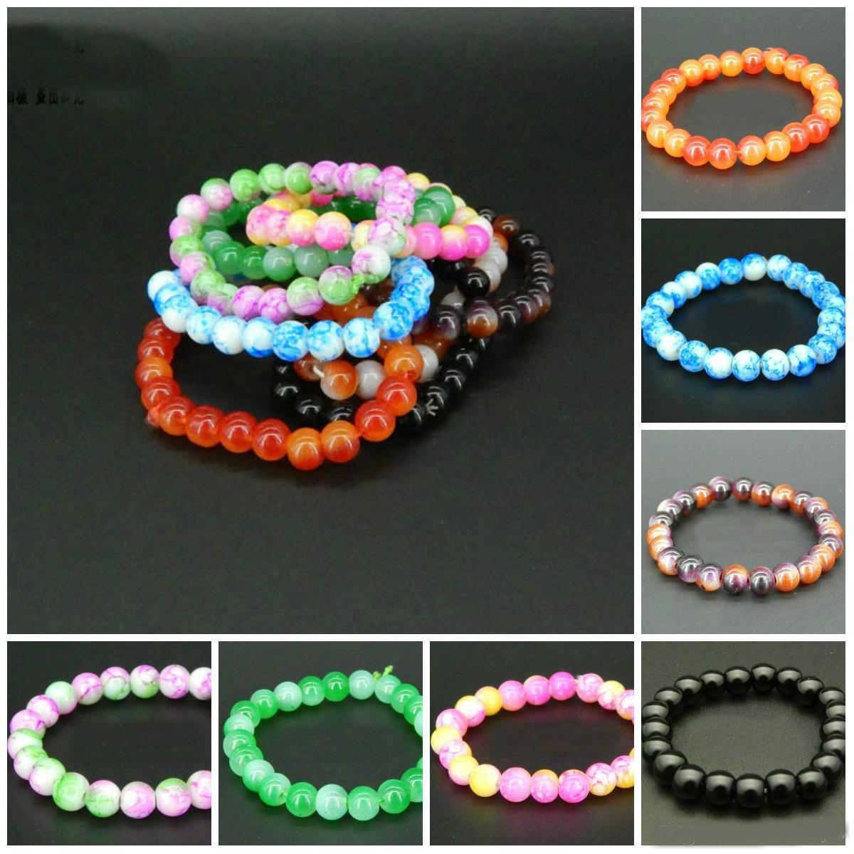 l Braccialetti di perle di vetro per le donne Moda Design romantico Braccialetti belli Braccialetti