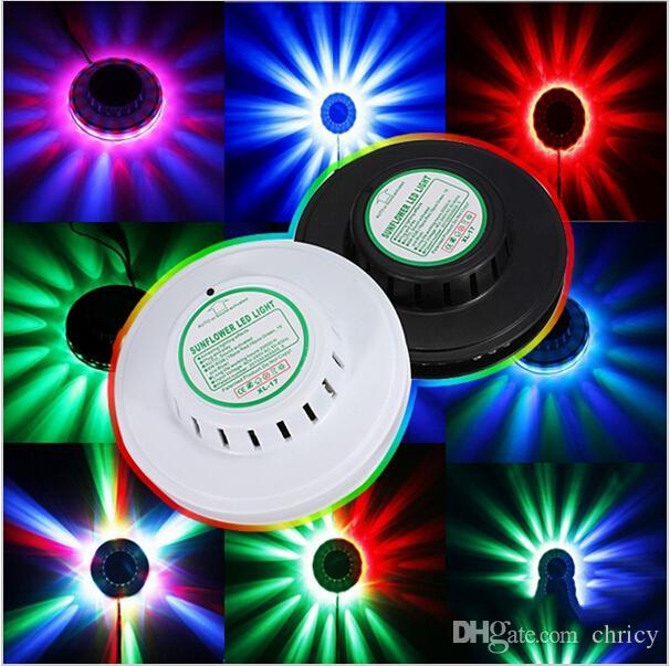 휴대용 미니 UFO LED 무대 램프 해바라기 회전 KTV 크리스마스 파티 디스코 DJ 프로젝터 RGB LED 무대 조명