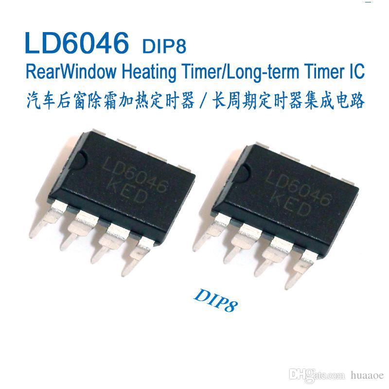 IC de minuterie de chauffage de vitre arrière d'automobile, Circuit intégré, IC, LD6046 U6046B U6046 DIP8