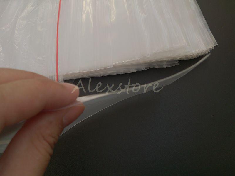 Abdichtung PP PE Polypropylen Durchsichtige Plastiktüten 129 * 93mm15 Drahtsack mit Reißverschluss Heißsiegel für Baumwollbehälter 100pcs / lot DHL