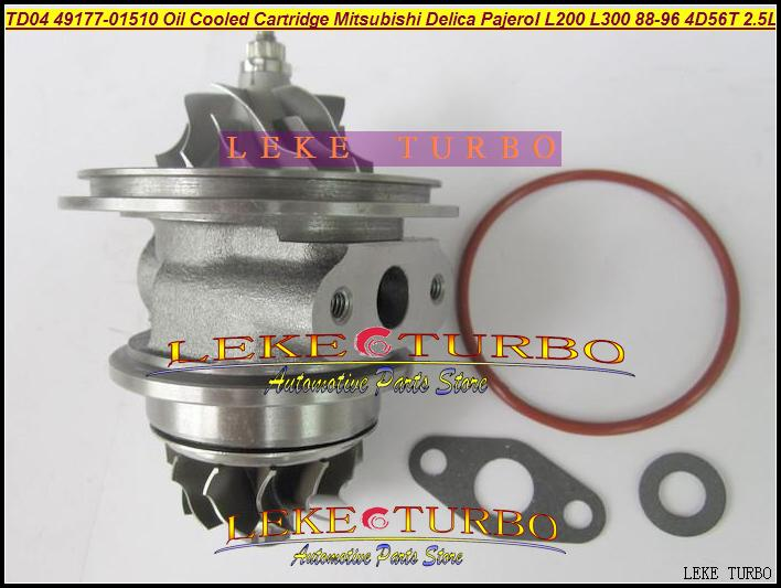 TD04-09B 49177-01510 Oil Cooled Turbocharger Cartridge Turbo Chra Core Mitsubishi Delica Pajero I L200 L300 1988-96 4D56T 2.5L (1)