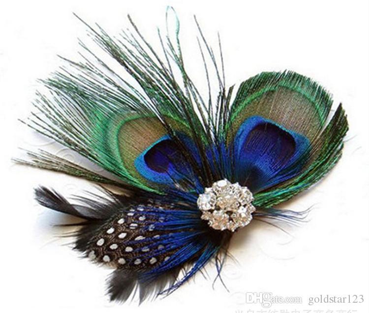 Bridal peacock hairpin peacock U hairpin Feather U Hairpin 4-Peacock feather U hair pin