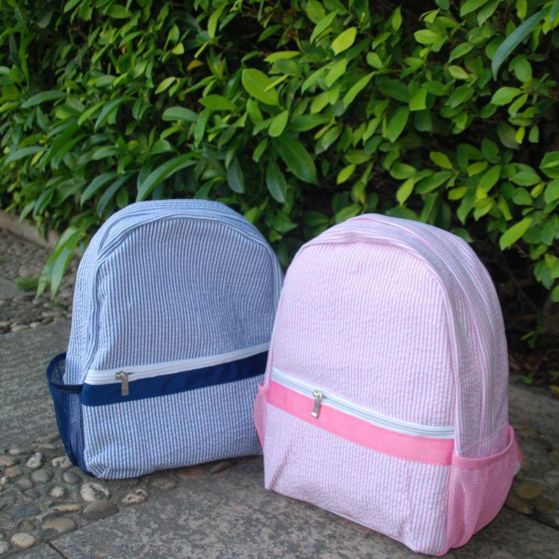 퍼플 유아 학교 가방 시어서커 아이는 분홍색 해군과 배낭과 사이드 메쉬와 학교 도서 가방 DOM106187을 포켓