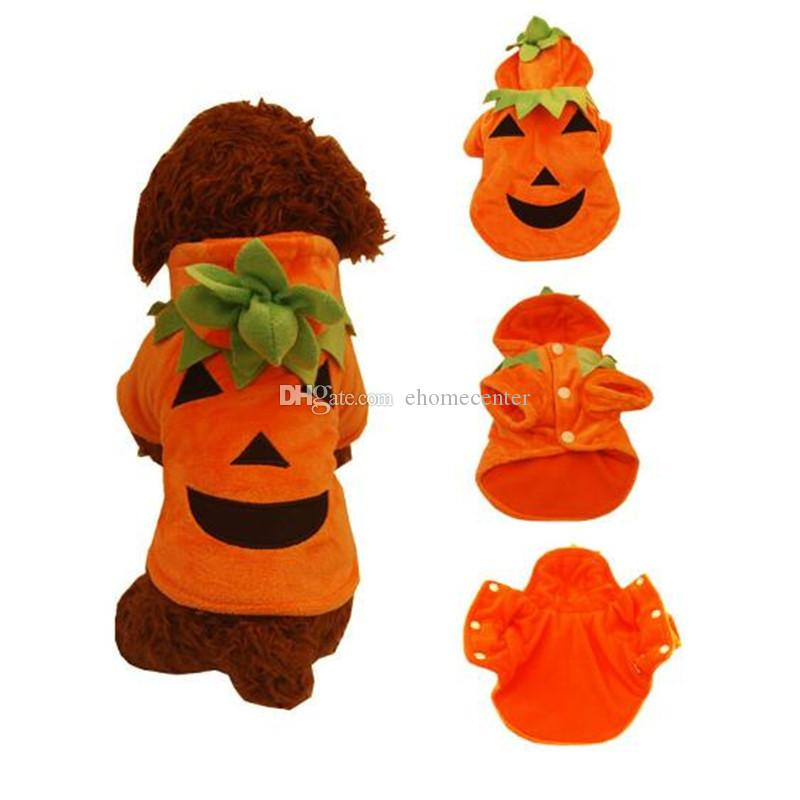 small dog Halloween clothes pet hooded clothes fleece apparel costume cute dog Pumpkin Cosplay Pet Party clothing for dog Cardigan PD031