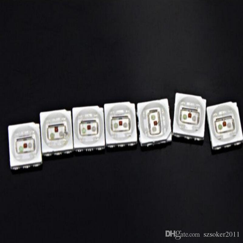 1500pcs 16-19LM bianco rosso blu verde giallo PLCC-6 5050 SMD 3-Chips Lampada lampada diodi ultra luminosa