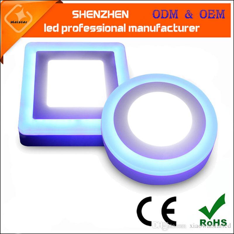 표면에 의하여 거치되는 둥근 두 배 색깔 LED 천장에 의하여 중단되는 통 둥근 표면에 의하여 거치되는지도 된위원회 빛 실내 표면에 의하여 거치되는 천장 빛