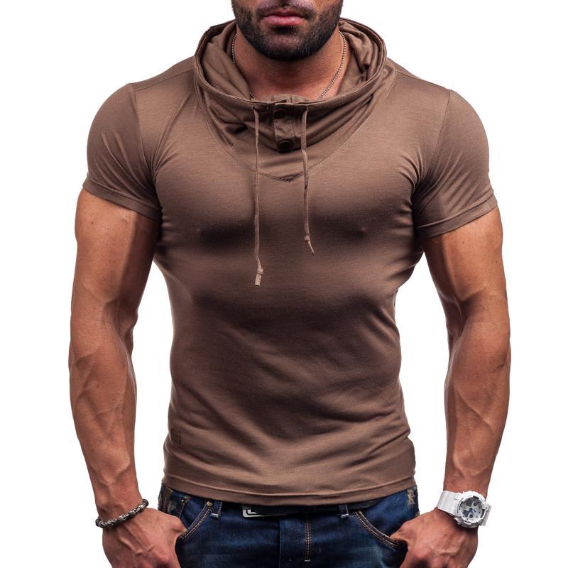 La nuova t-shirt a manica corta di colore primavera ed estate 2016 con t-shirt Muscle man a manica corta