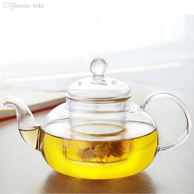 Teiera di vetro resistente al calore di alta qualità all'ingrosso con infusore Foglia di caffè 350ML / 600ML / 800ML1000ML