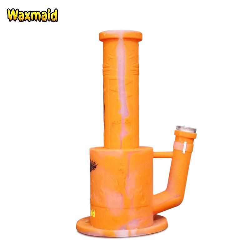 10 inç Percolator bong Waxmaid Magneto Platin Tedavi Silikon su borusu sigara 14mm Kadın Ortak Buz Catcher Manyetik Çakmak tutucu
