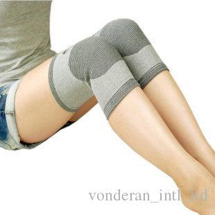 Fibre de charbon de bambou infrarouge lointain genou genou soins de santé genou manchon chaud anti-rhumatisme sports loisirs quatre saisons disponibles