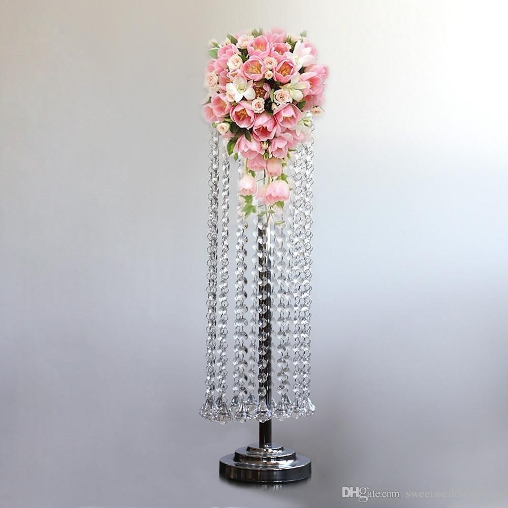 no the flowers including)large acrylic crystal mental Cylinder Vase flower vase