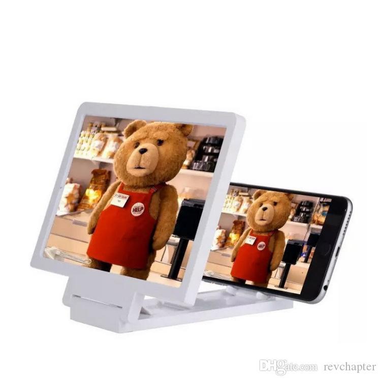 Plegable y móvil universal de la pantalla del teléfono lupa 3D amplificador expansor vídeo Ampliar los ojos del tesoro de la lente telescopios para Smartphone Nota 5 S6 SA