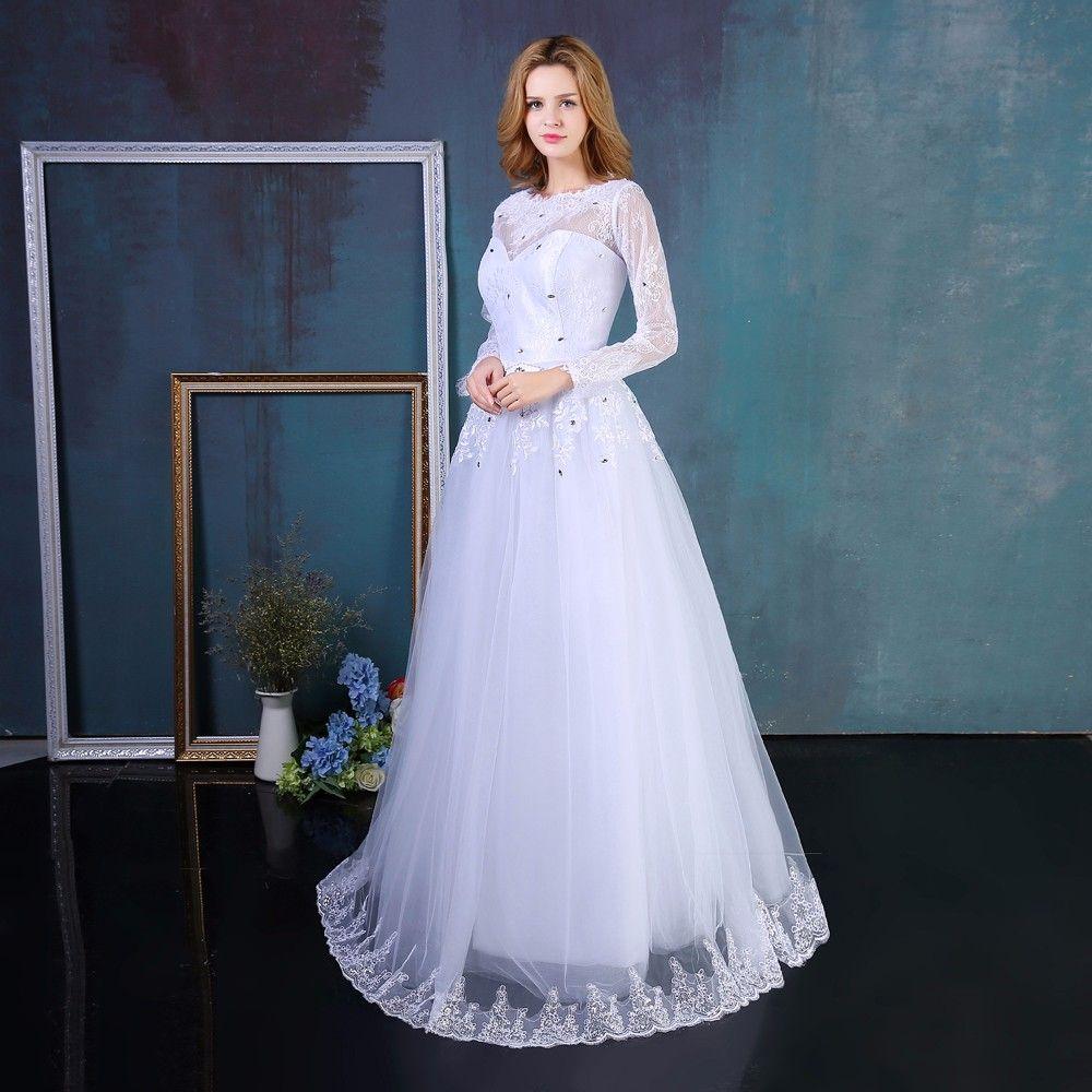 Discount A Line Lace Appliques Bridal Dresses Customer Order Lace ...