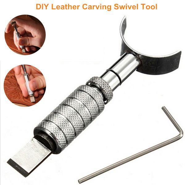 New DIY Handmade couro ajustável Carving Ferramenta luxo Leathercraft corte giratória lâmina de faca Sliver Cor 1 PCS / Lot