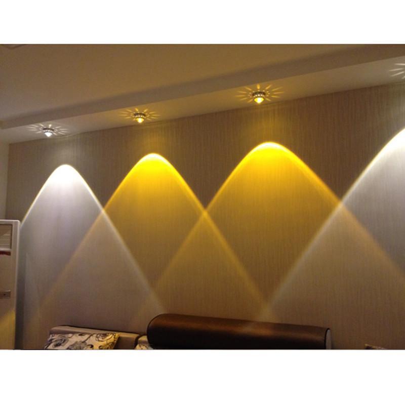 3 واط الكريستال أدى أضواء السقف مطعم ktv الممر شرفة غرفة المعيشة مصباح الحديثة أدى الإضاءة للمنزل الديكور الإنارة