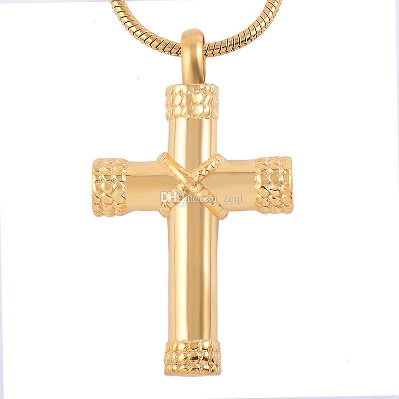 Elegant Design Classic Cross Cremation Urn Necklace,Cremation Jewelry in Pendant Necklaces&Pendants For Pet Dog Cat Free Shipping