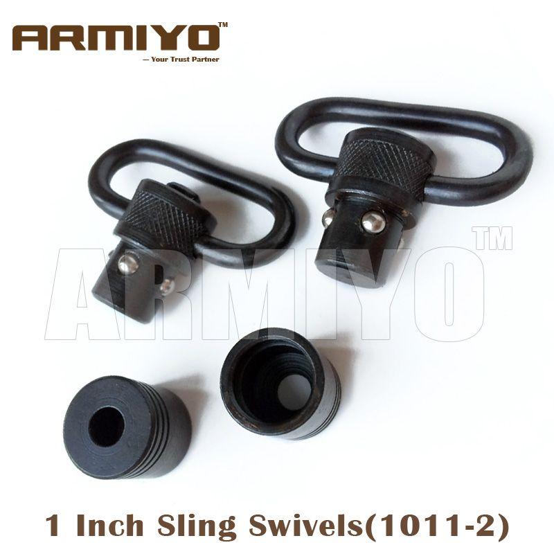 "Armiyo 1 ""1 pouce 25.4mm Chasse Tactical Gun Sling Pivotant Fit Plus Bolt Action Rifle Airsoft 1011-2"