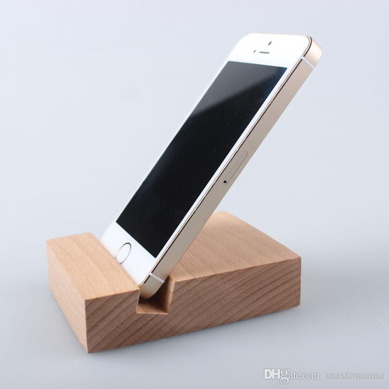 2019 Simple Design Solid Wood Mobile Phone Support Beech Hand Made Mobile Phone Seat Cartoon Puppy Wooden Cell Phone Holder Spot Wholesale From