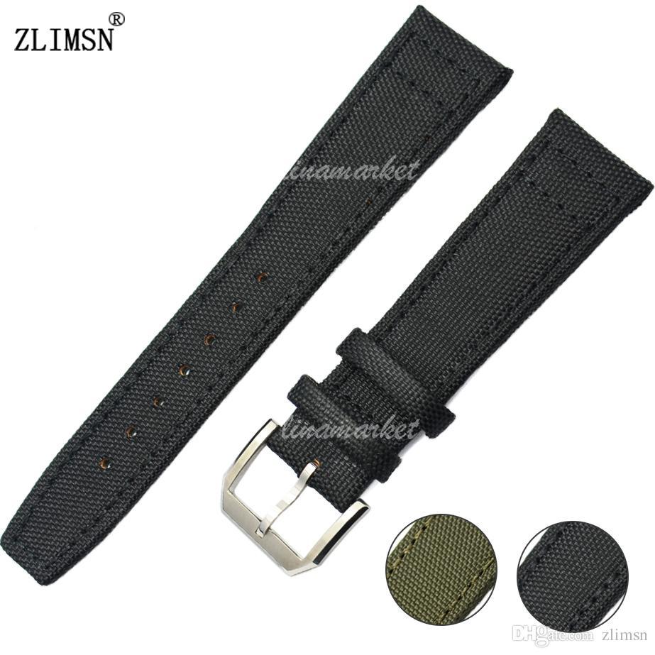 Fivela De Couro De Nylon verde ASSISTIR A FAIXA de 20 21 22mm Preto Pin Strap Homens Mulheres Relógios Pulseiras de Relógio Relojes Hombre 2016