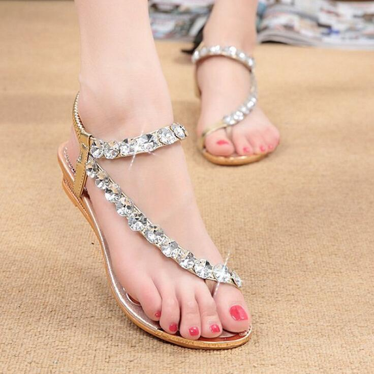 ladies summer slip on sandals