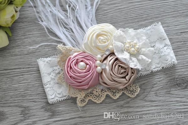 FM/_ Newborn Baby Girl Lovely Bowknot Lace Romper Flower Headband Photo Props Eye