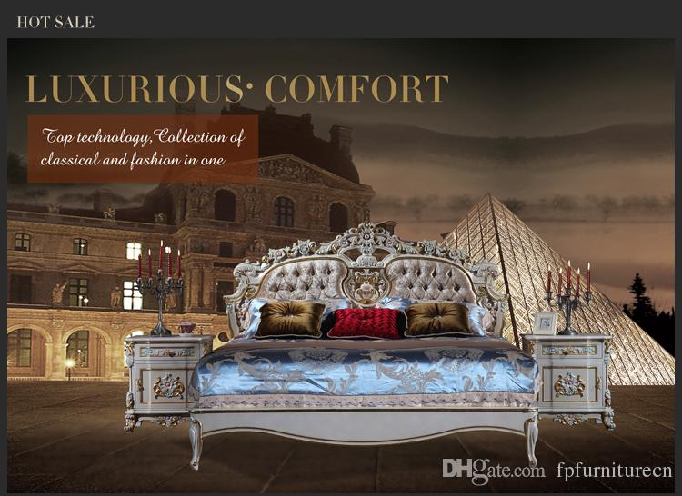 2019 Baroque Classic Bedroom Furniture French Royalty Bed Italian Solid  Wood Queen Bed From Fpfurniturecn, $2369.85 | DHgate.Com