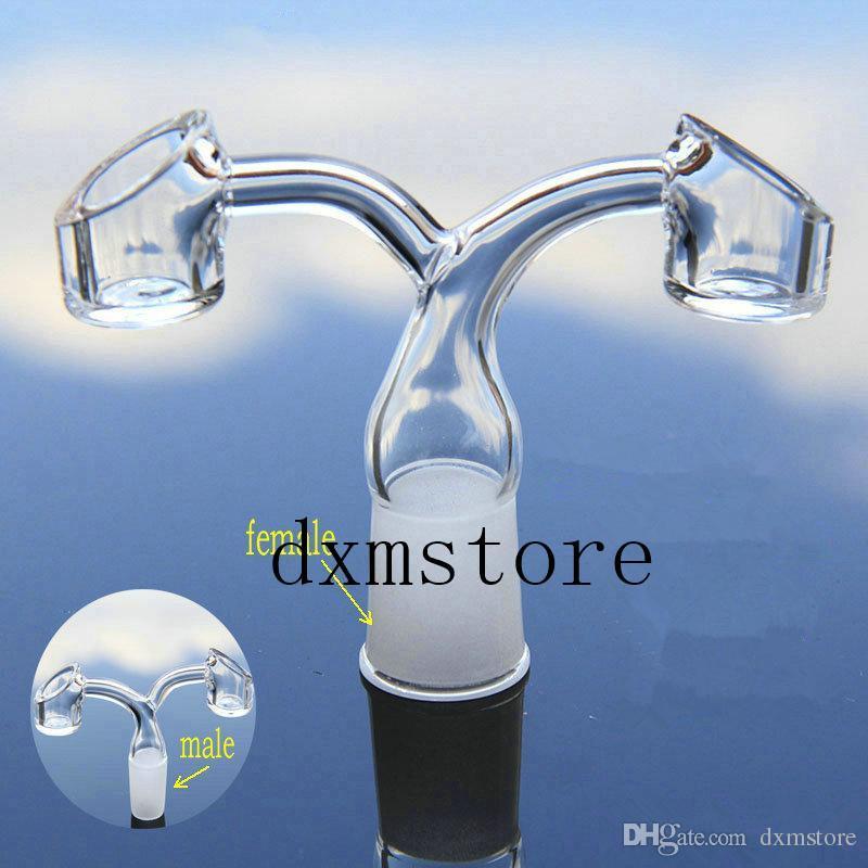 nouveau seau à deux têtes mode titane clou 14mm18mm joint femelle ou mâle pour ongles en verre pipe à eau Quartz pour la livraison gratuite