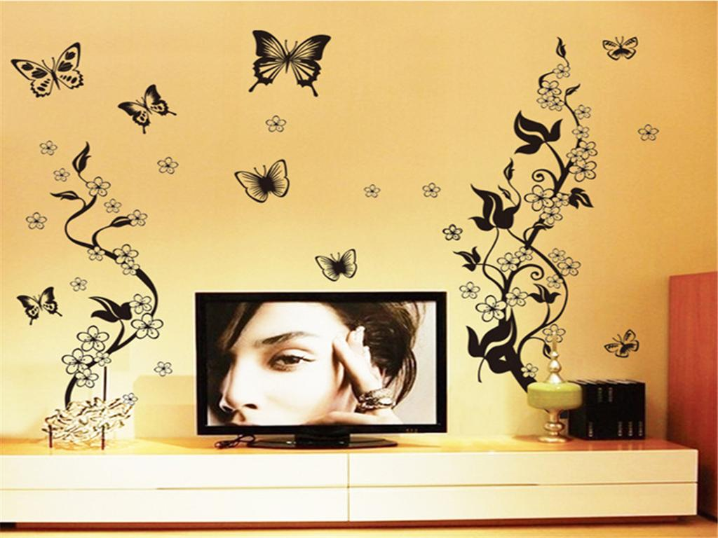 Cute Black Butterfly Wall Decor Contemporary - The Wall Art ...